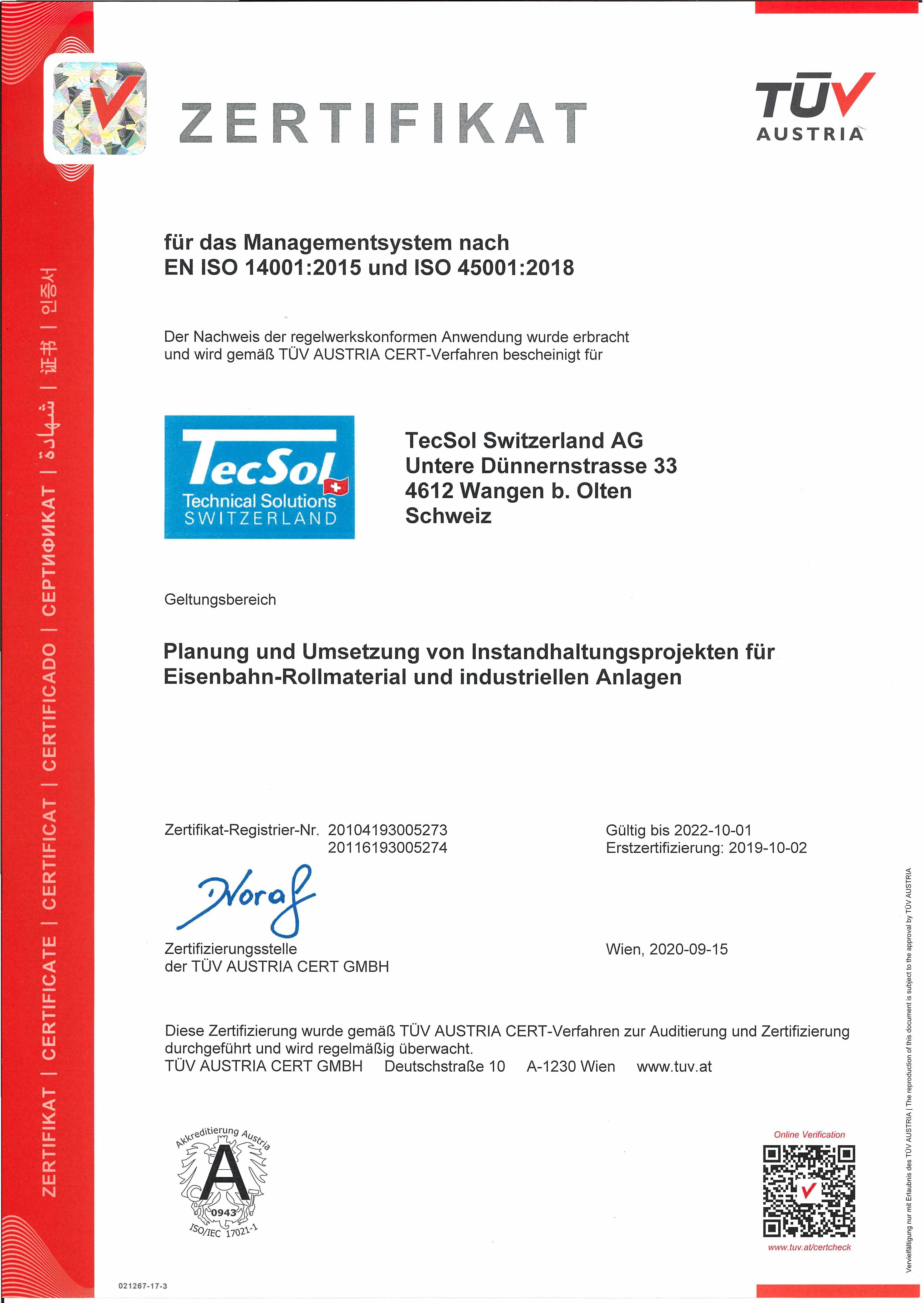 tecsol_deu_20200915_EN ISO 14001_2015 und ISO 45001_2018