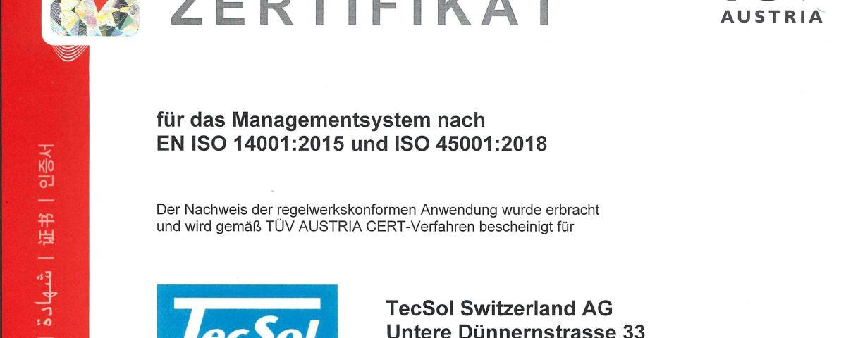 tecsol_deu_20200915_EN ISO 14001_2015 und ISO 45001_2018_querformat