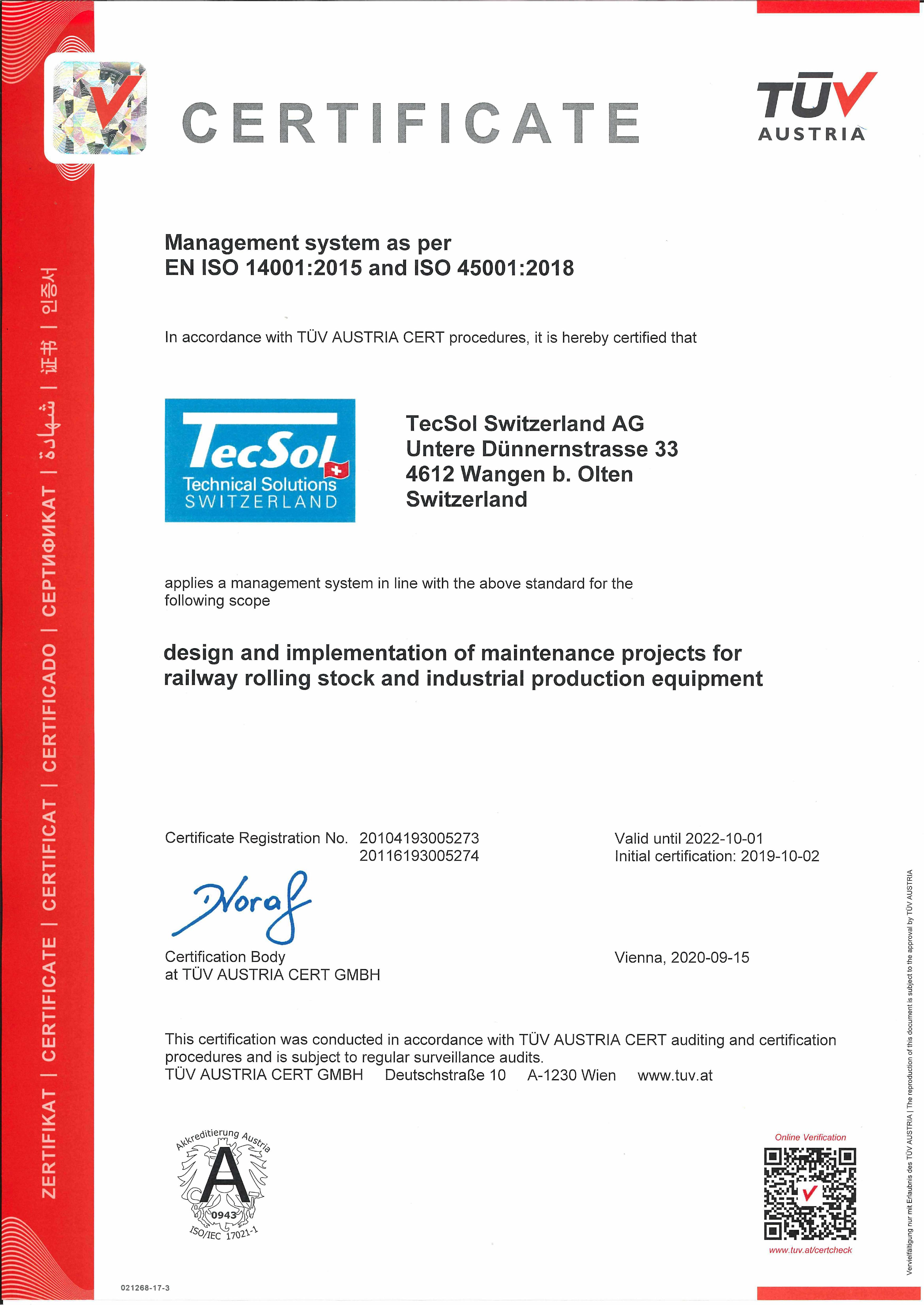 tecsol_eng_20200915_EN ISO 14001_2015 und ISO 45001_2018